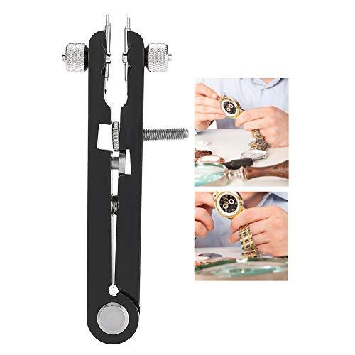 Herramienta de alicates de barra de resorte, herramienta de ajuste del removedor de la correa de reloj de aleación 6825, alicates de barra de resorte en forma de V (negro de 6 clavijas)