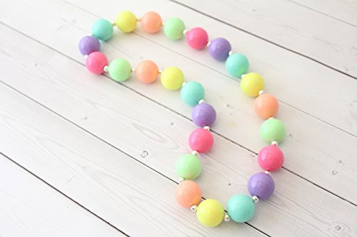 Easter Day Pastel Chunky Necklace for Girls - 20""