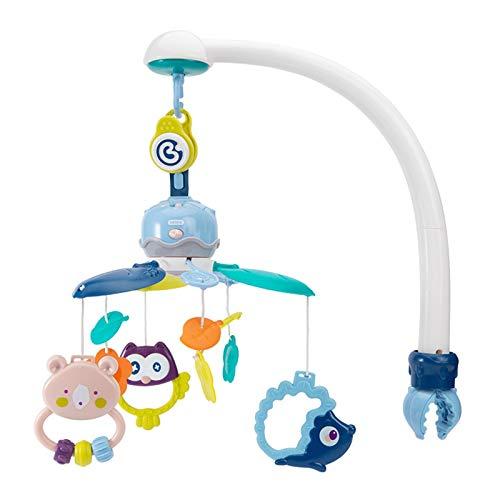 ZXJ Baby Musical Cuna Móvil con Colgante De Colgante Giratorio Juguetes Caja De Música Cama para Bebés Decoración De La Cama para Recién Nacidos 0-24 Meses
