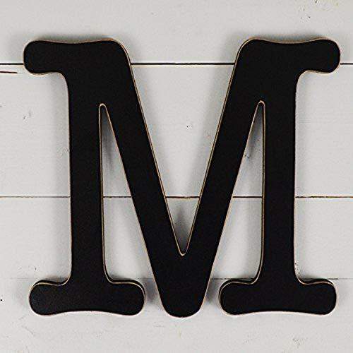 UNFINISHEDWOODCO 300572 Schreibmaschine Wanddekoration Buchstabe M, 29,2 cm, schwarz