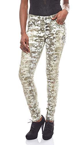 Blue Monkey Jeans Alexis Skinny Kaki Camouflage - 27/34