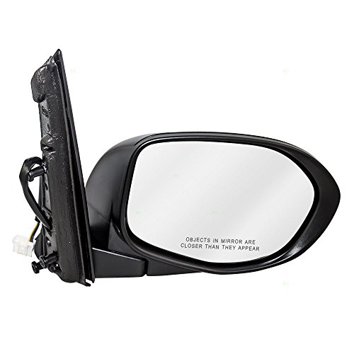 Passengers Power Side View Mirror Textured Replacement for Honda Van 76200-TK8-A41