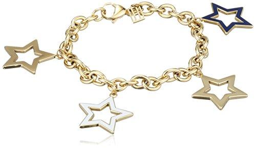 Tommy Hilfiger Damen-Armband Edelstahl vergoldet Emaille 20 cm-2700891