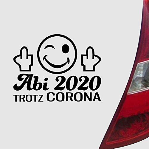 Abi 2020 trotz Corona fun Abitur Aufkleber sticker (Schwarzmatt)