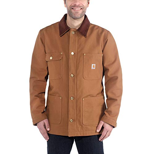 Carhartt Men's Duck Chore Jacket C001 (Regular and Big & Tall Sizes), Brown, Medium