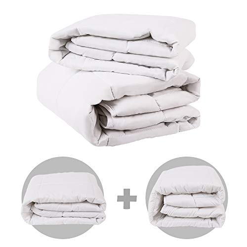 i-baby Baby Duvet All Season Duo Duvets Set 2 in 1 Baby Comforter Set 40'x52' Include 1PC Thinner Duvet 4.5 TOG for Spring Summer & 1PC Thicker Duvet 9 TOG, Attached 2 Duvets 13.5 TOG (101x133cm)