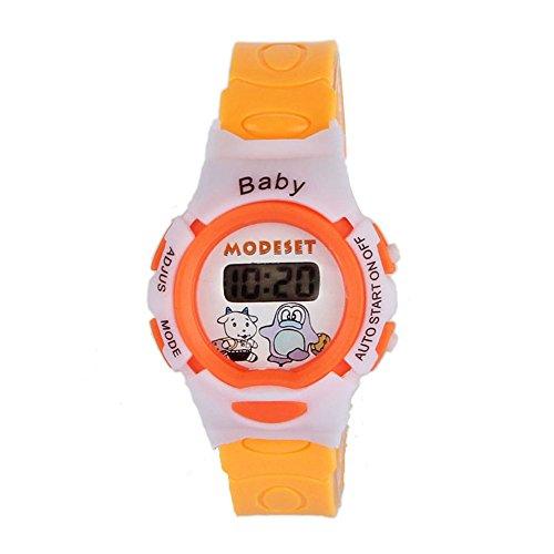 OSYARD Kinderuhr Sportuhr Lernuhr Uhr,Jungen Mädchen Studenten Elektronische Digital Handgelenk Sportuhr,Cute Cartoon Armbanduhr Teaching Handgelenk Uhren Kleinkinder Geschenk