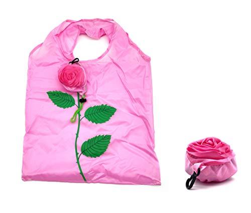 ほうねん堂 エコバッグ 折りたたみ 収納 花モチーフ 携帯 買い物袋 38×48�p (ピンク)