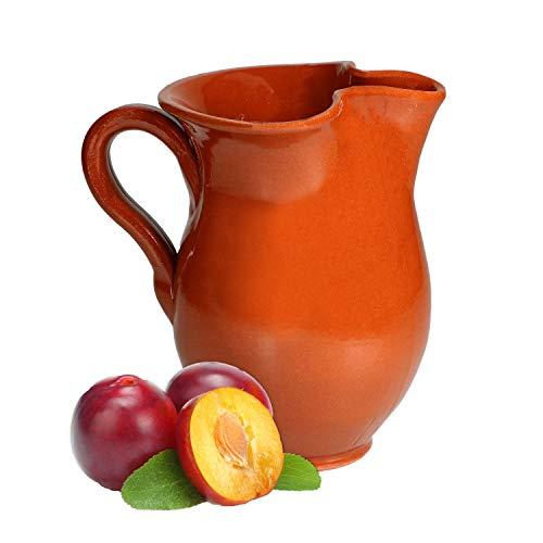 MamboCat Tonkrug Middeleeuwse Vikingkruik 0,5 liter I Mediterrane karaf antiek in hoogwaardig handwerk I Vintage kan voor met glühwein Bier I Sangria pot Pitcher wijn Tonpul geglazuurd