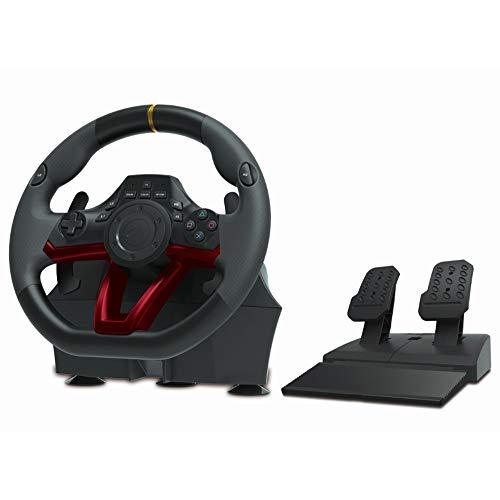 WSMLA Racing Wheel Overdrive for Un Jeu sous Licence Officielle de vol avec Joystick USB Vibration Ordinateur PC Simulation Flight Control Manipulateur Système Applicable