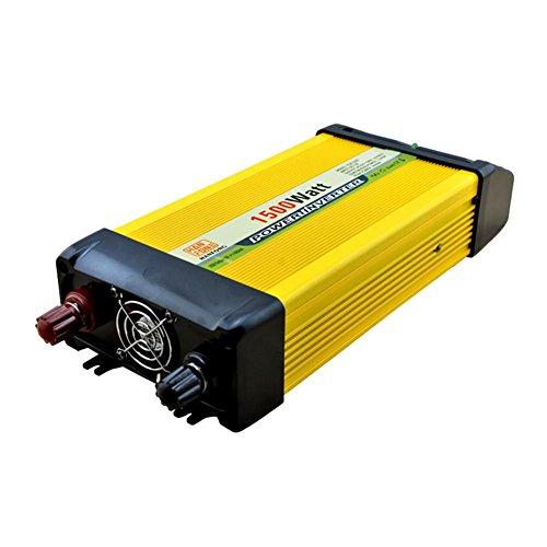 BQ Convertisseur @ Power Inverter DC 12V à 220V AC Convertisseur de voiture PV solaire avec adaptateur allume-cigare 1500W