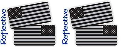 Pair - American Flags Black Ops Stealthy Vinyl Decals