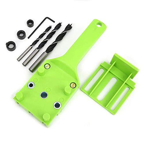 LKK-KK 8 Pcs Handheld Woodworking Locator Doweling Jig Drill Guide Tool with 6mm 8mm 10mm Hole Drill Bit