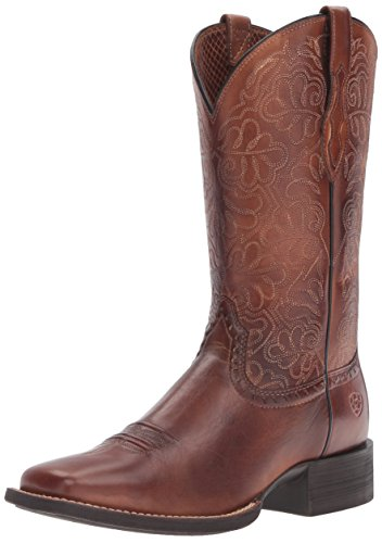 Ariat Women's Round up Remuda Western Cowboy Boot, Naturally Rich, 11 B US