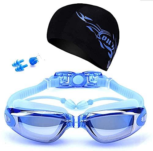 Gafas De Natación Equipo De Piscina Gafas De Buceo Gorra Tapones Para Los Oídos Juego De Pinzas Para La Nariz Gafas De Natación De Surf Gafas A Prueba De Agua Anti-vaho Protección Uv Gafas Piscina