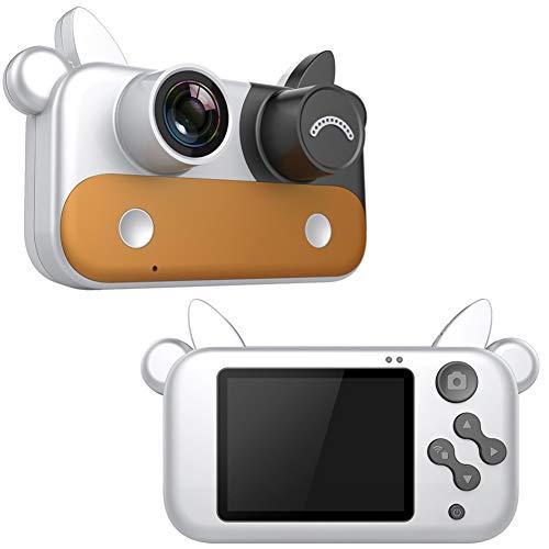 YP WiFi Digitalkamera Kindertauglich, Digitale Kamera Bildschirm 2.2 Zoll Kinder Fotoapparat, Weihnachten Neujahr Geburtstag Festival Spielzeug Geschenk FüR Kinder Alter 3-12,Including32Gcard