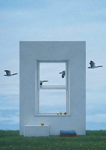 Postkarte A6 • 22852 ''Fenster und Gänse'' von Inkognito • Künstler: Quint Buchholz • Kinder/Märchen • Fantastik