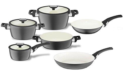 Batterie de Cuisine Pot Set 6pcs 4X Pots + 1x sauteuse pan 28 cm + pan 28 cm Balance Smart Induction - Berndes