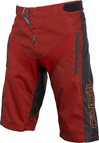 O'Neal | Pantaloncini da Mountainbike | MTB Mountainbike DH Freeride | Materiale in Rete Resistente, Inserti Elasticizzati | Pantaloncini FR Element Hybrid | Adulto | Rosso Arancione | Taglia 38/54