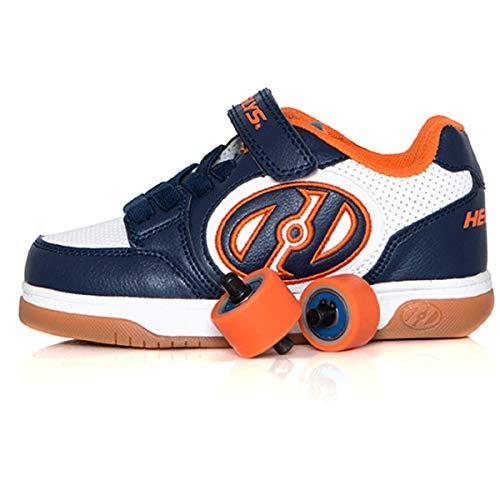 Heelys Plus X2 | Chaussures à roulettes pour garçons | Bleu Marine/Blanc, 31 EU