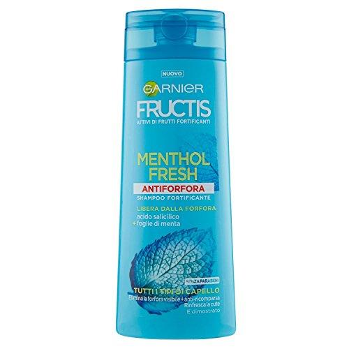 Garnier Fructis Menthol Fresh Anti-Schuppen-Shampoo voor alle haartypes, 250 ml
