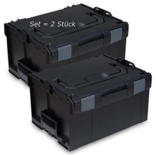 L-BOXX® 238 Bosch Sortimo schwarz leer 2 Stück Werkzeugkoffer Transportbox black