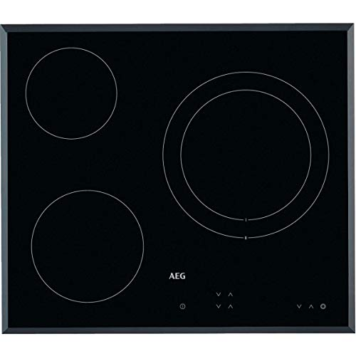 AEG HK623021FB Placa vitrocerámica, Biselada, 3 zonas de cocción, Panel de control...