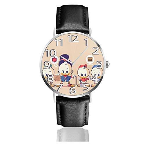 Simpatico orologio con cinturino in Pelle da 38 mm analogico al quarzo Easy Reader, Paperino Unisex
