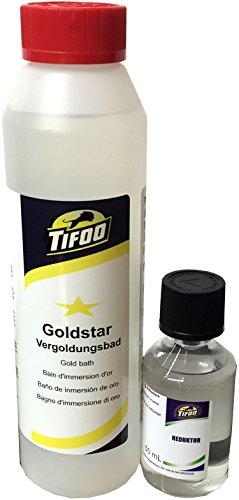 Gold-Star Goldbad (250 ml) - Stromlos vergolden, Alternative zu Gold-Elektrolyt – Keine Vorkenntnisse benötigt