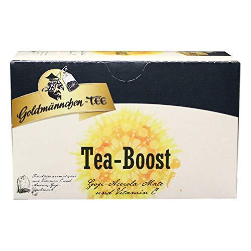 Goldmännchen Tee T-Boost, Aromatisierter Früchtetee, Energizer Tee, 20 einzeln versiegelte Teebeutel