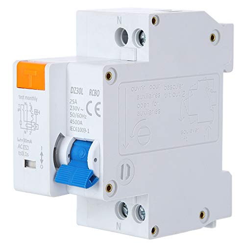 Interruttore differenziale corrente, interruttore elettronico di dispersione della protezione contro le perdite 230V, per la protezione del sistema di distribuzione(25A)