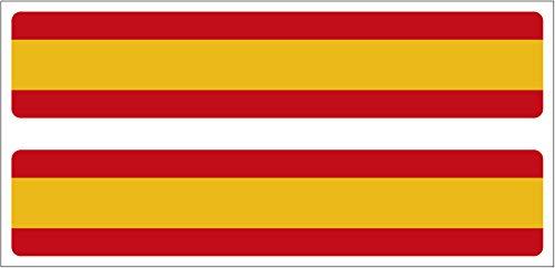 Artimagen Pegatina Bandera Rectángulo España 2 uds. 100x20 mm/ud.