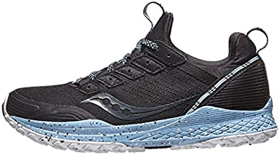 Saucony Women's Mad River TR Trail Running Shoe, Black, 8