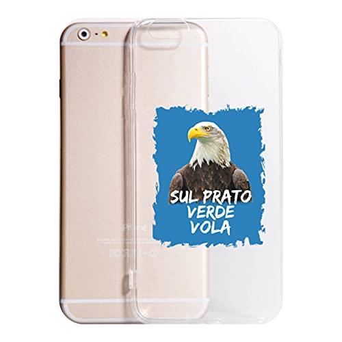 Cover Compatibile Con Tutti i Modelli iPhone - SUL PRATO VERDE VOLA - Trasparente UltraSottili AntiGraffio Antiurto Case Custodia (TRASPARENTE, 6 PLUS)