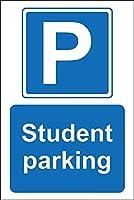 学生駐車場駐車場サインブリキサイン
