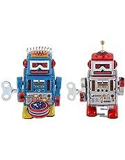 yotijar 2 Piezas Toy Robot Wind Clock Feet Colección De Decoración del Hogar