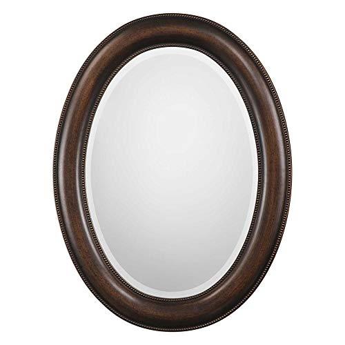 Spinner Oakes Dark Bronze Oval Mirror   Oval Wall Mirror in Dark -