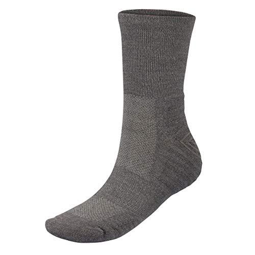 Wool Rockers Merino-Wander-Socken, 72{89154d68c1f0f98c31efdf74760bf54e978cc610a5bb103d0b9ecba66fc0a080} Merinowolle, für Damen & Herren, Outdoor und im Alltag, optimal gepolstert und atmungsaktiv (grau, 39 - 42)