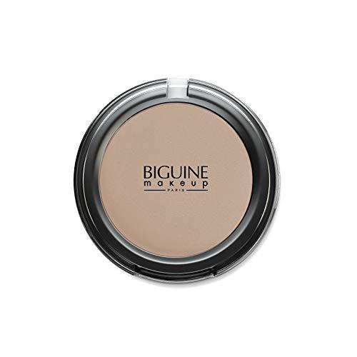 BIGUINE MAKEUP PARIS - Poudre Compacte Soie - Compact Powder - Teint Uniforme - Poudre Légère - Matifiante - Maquillage - Pêche - Peach - 11 g