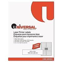 UNIVERSAL Office Products レーザープリンター永久ラベル 1 x 4 ホワイト 5000/箱 (80002)