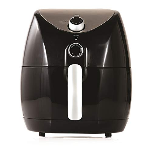 Tower Air Fryer with Rapid Air Circulation System, VORTX Frying Technology, 60 Minute Timer and Adjustable Temperature Control for Healthy Oil Free or Low Fat Cooking, 1500 W, 4.3 Litre, Black