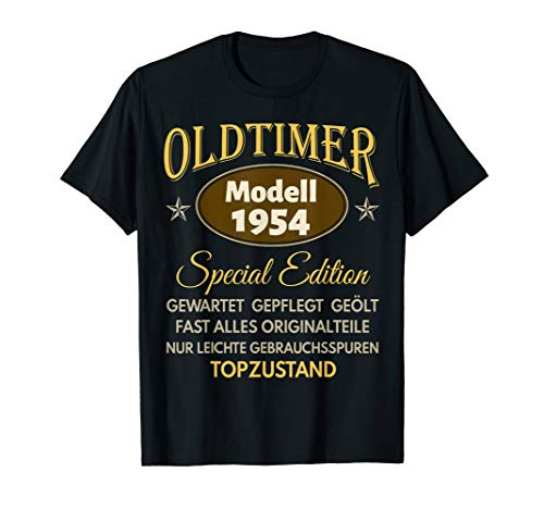 66. Geburtstag Mann Frau 1954 Damen Herren 66 Jahre Geschenk T-Shirt