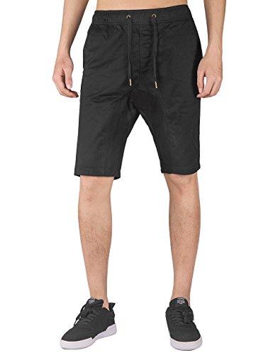 ITALY MORN Hombre Pantalones Cortos Chinos Ajustados con Cinturilla Elástica