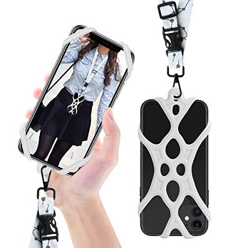 ROCONTRIP - Cordino 2 in 1 per Telefono Cellulare, con Tracolla Staccabile, Universale per Smartphone iPhone 8,7 6S iPhone 6S Plus, Google Pixel LG HTC Huawei P10 4,7-6,5 Pollici