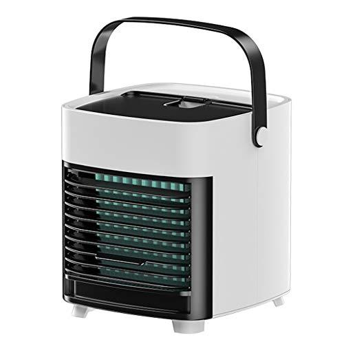 Mini Aire Acondicionado,Aire Acondicionado Portátil,Aire Acondicionado,Humidificador de Espacio Personal,Refrigerador de Purificador con USB 3 Velocidades Ajustables para El Hogar Y La