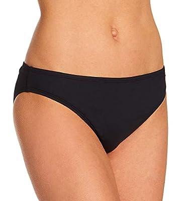 La Blanca Women's Island Goddess Solid Hipster Bikini Swimsuit Bottom, Black, 10
