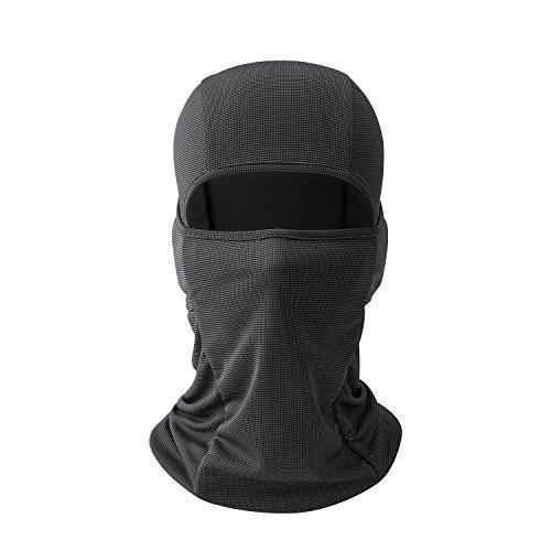AYPOW Balaclava Gesichtsmaske, weiches atmungsaktives winddichtes Mehrzweck-Motorrad Radfahren Balaclava Hood Halswärmer Taktische Gesichtsmaske Balaclava Hut für Motorrad - elastische Universalgröße