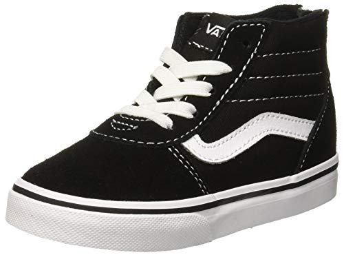 Vans Unisex Baby Ward HI Zip Sneaker, Schwarz ((Suede Canvas) Black/White Car), 19 EU