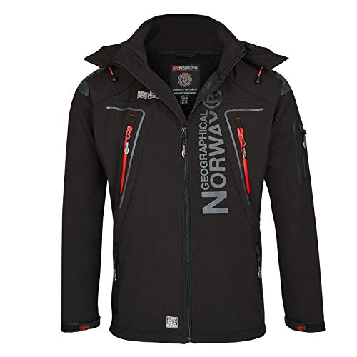 Geographical Norway Tambour Veste Softshell Homme - Noir, 3XL