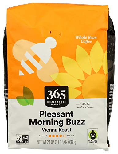 365 By WFM, Coffee Pleasant Morning Buzz Whole Bean, 24 Ounce